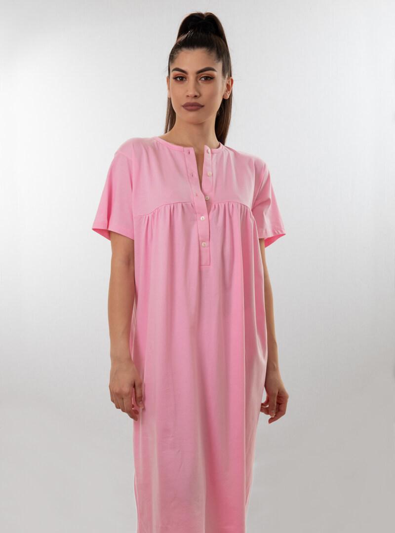 Ženska spavaćica kratkih rukava roza, ženske spavaćice