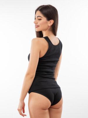 Ženska potkošulja široka bretela crna