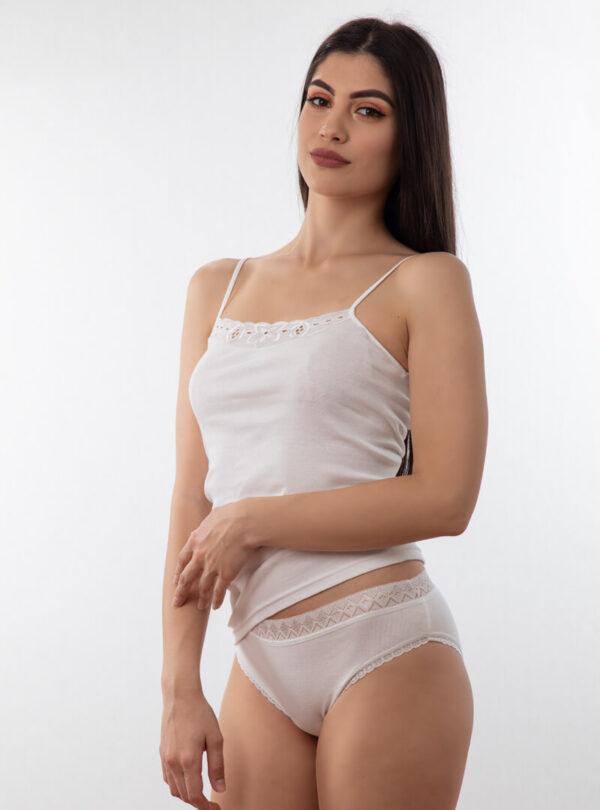 Ženske mini gaćice sa širokom čipkom bijele online prodaja