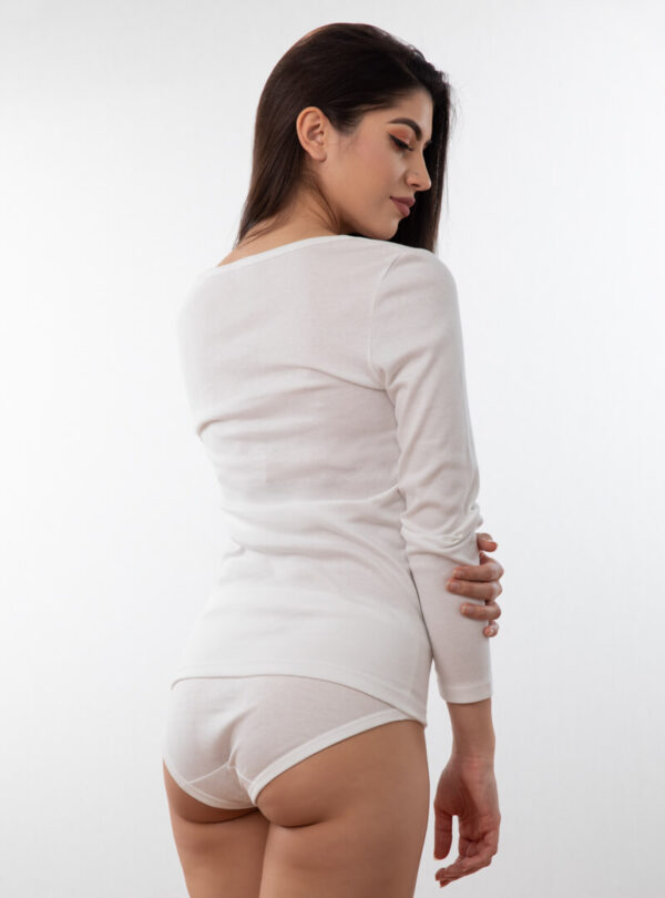 Ženska potkošulja dugih rukava bijela