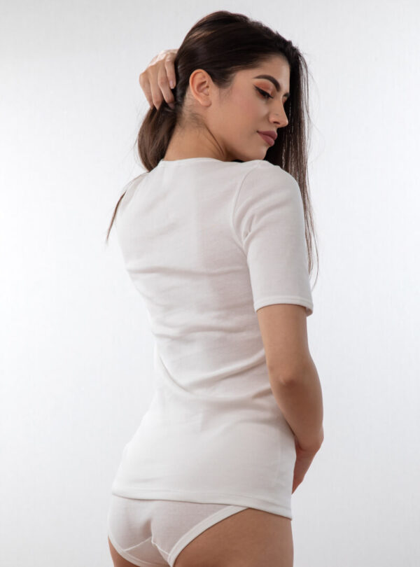 Ženska potkošulja kratkih rukava bijela