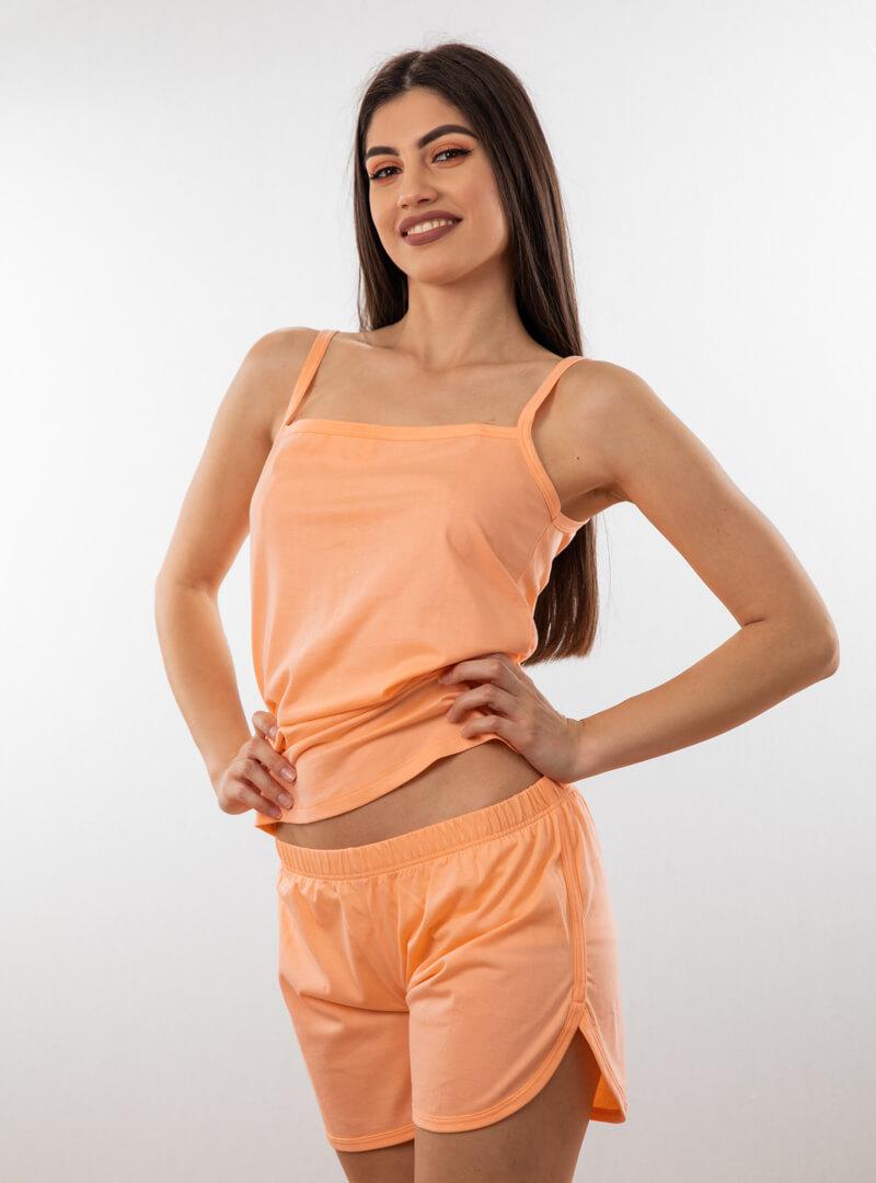 Ženski bebi dol IV narandžasta, Bebi dol pidžama za žene od pamuka
