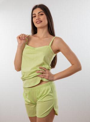Ženski bebi dol IV zelena, Bebi dol pidžama za žene od pamuka