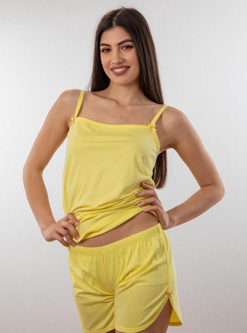 Ženski bebi dol IV žuta, Bebi dol pidžama za žene od pamuka