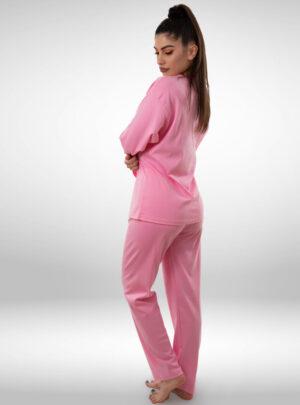 Ženska pidžama na kopčanje roza, ženske pidžame
