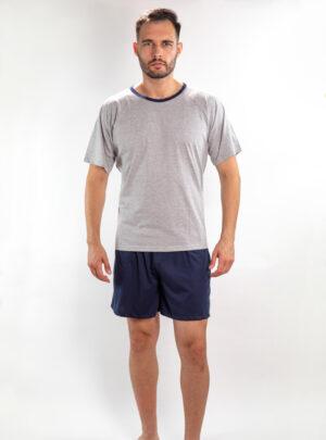 Muška pidžama Sivo - tamno plava, muške pidžame