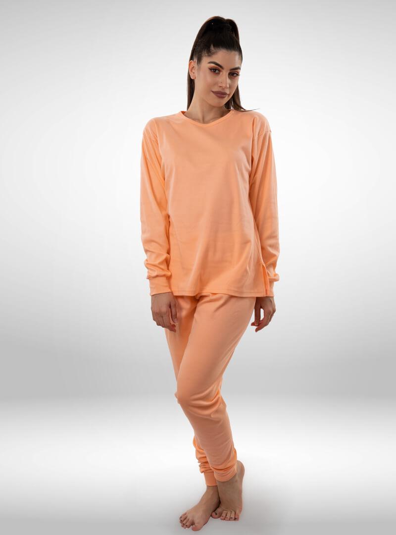 Ženska pamučna pidžama narandžasta, ženske pidžame
