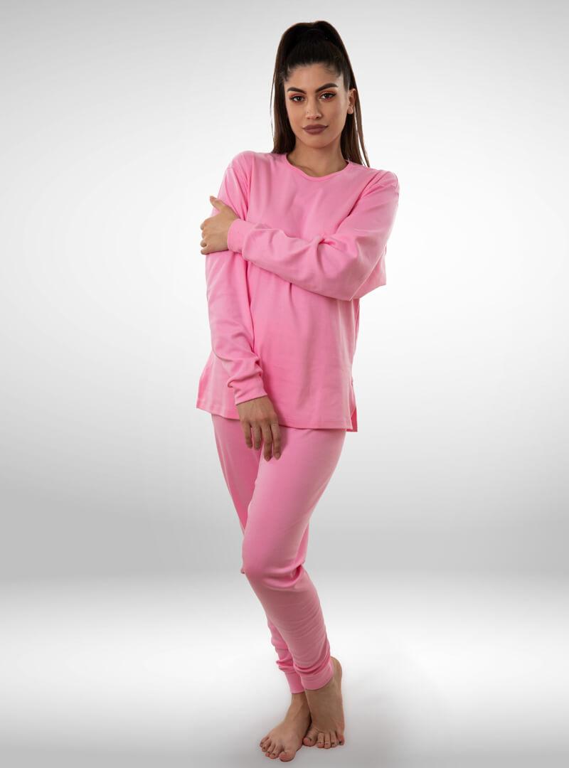 Ženska pamučna pidžama roza, ženske pidžame