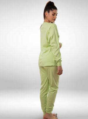 Ženska pamučna pidžama zelena, ženske pidžame