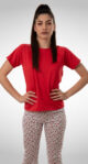 Ženska kratka pidžama. Pamučna Pidžama. Ženske pidžame online prodaja. Pamučne pidžame za žene, raznih boja & dezena. www.tekstildijana.com