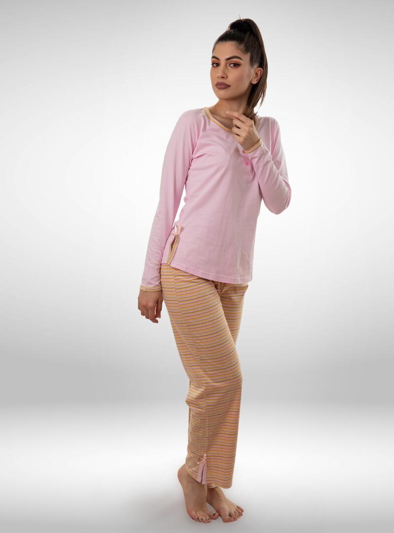 Ženska pidžama sa kratkim rukavima i dugim nogavicama, ženske pidžame