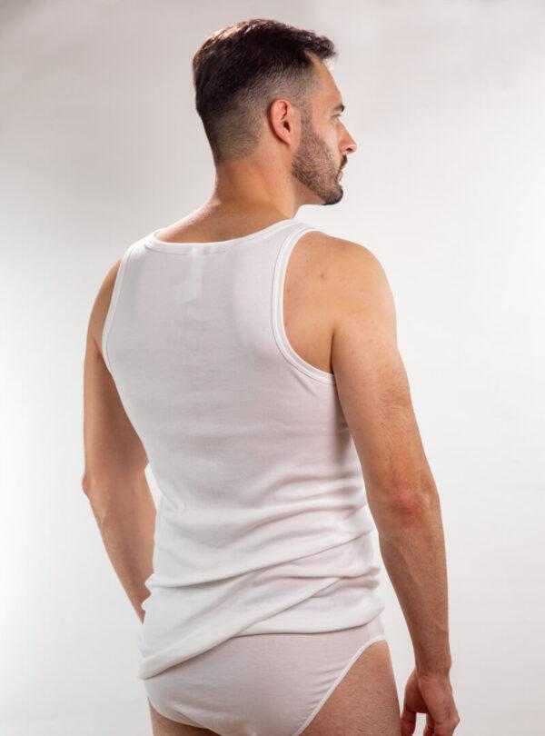 Muška atlet majica bijela glat, muške potkošulje
