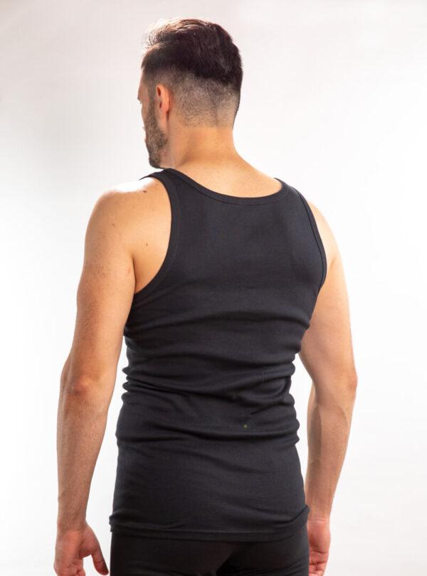 Muška atlet majica crna glat, muške potkošulje