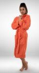 Ženski ogrtač sa kapuljačom narandžasti