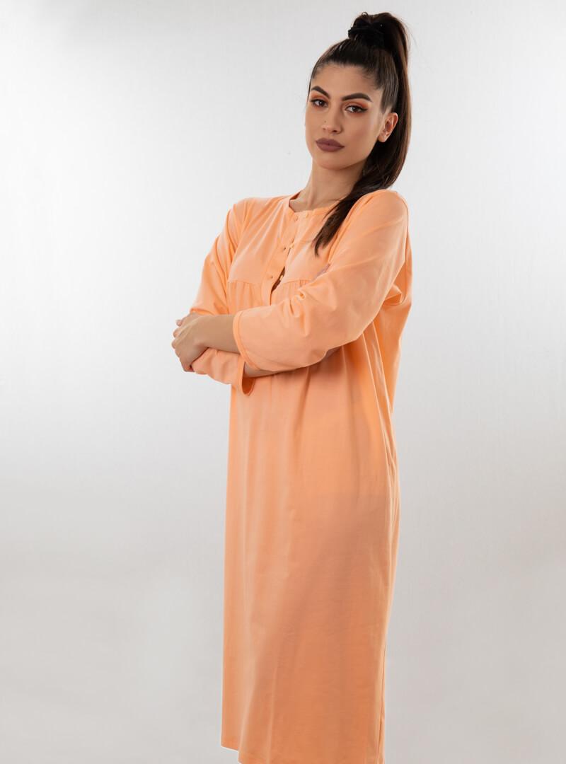 Spavaćica dugi rukav narandžasta, ženske spavaćice