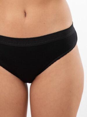 Ženske mini gaćice sa širokom čipkom crne online prodaja
