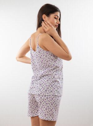 Ženski bebi dol uska bretela dezen1, Bebi dol pidžama za žene od pamuka