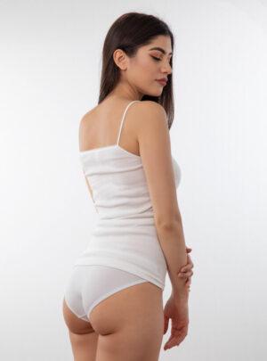 Ženska potkošulja uska bretela sa čipkom bijela