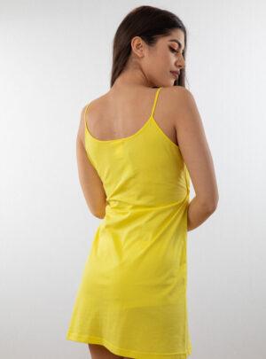 Ženska spavaćica uske bretele žuta, ženske spavaćice