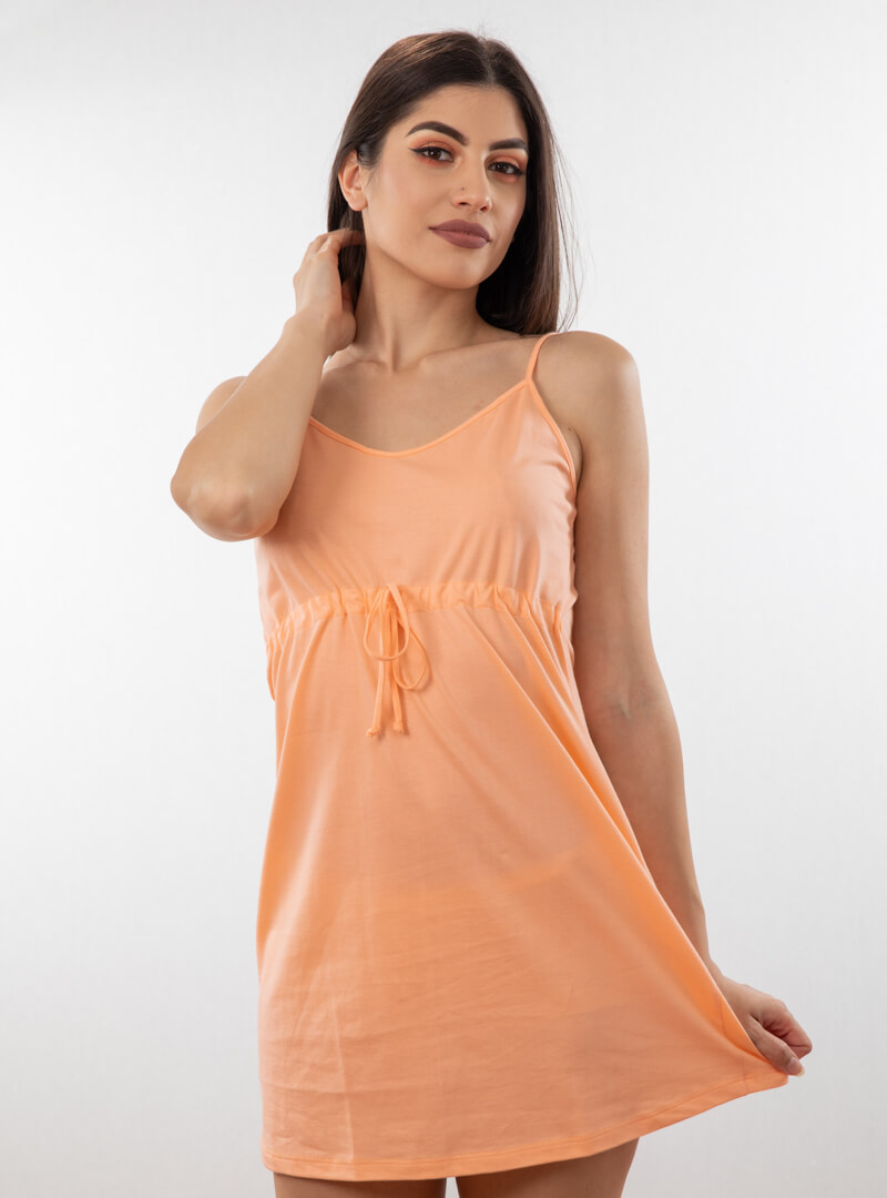 Ženska spavaćica uske bretele narandžasta, ženske spavaćice