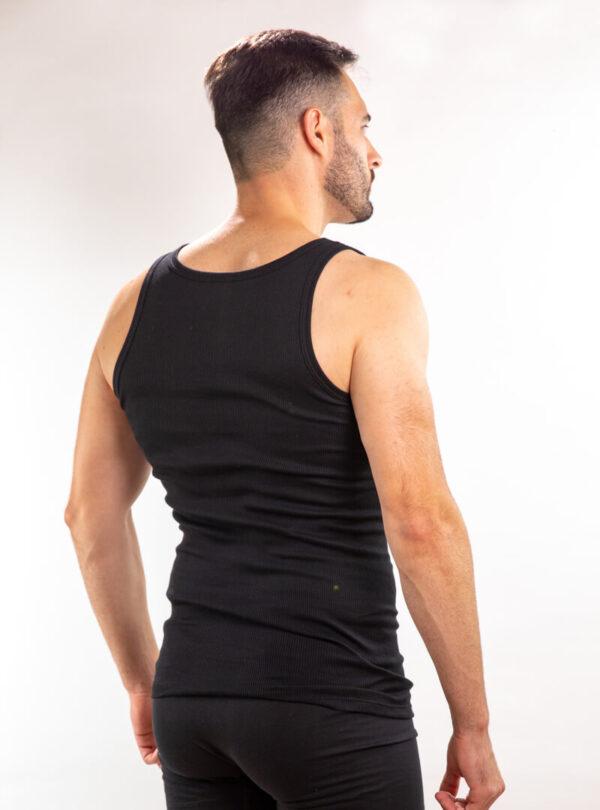 Muška atlet majica crna rebrasta, muške potkošulje