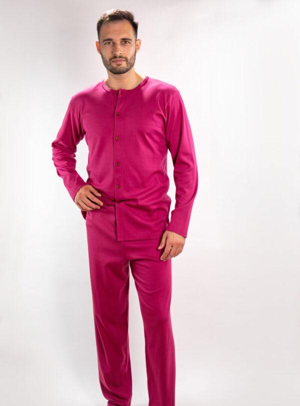 Muška pidžama na kopčanje bordo, Muske pidzame online prodaja