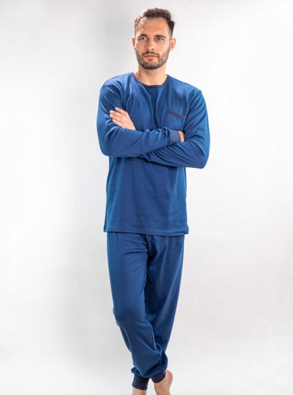 Muška pamučna pidžama tamno plava, Muske pidzame online prodaja