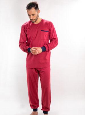 Muške pamučne pidžame bordo, Muske pidzame online prodaja