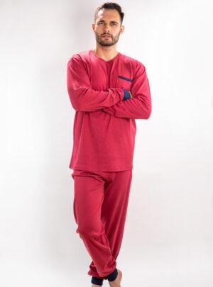 Muška pamučna pidžama bordo, Muske pidzame online prodaja