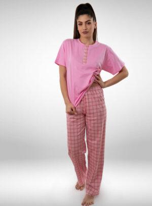 Ženska pidžama kratak rukav dezen1, ženske pidžame