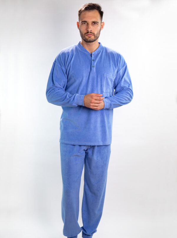 Muška frotir pidžama svijetlo plava, Muske pidzame online prodaja