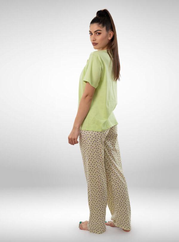 Ženska pidžama kratak rukav dezen3, ženske pidžame