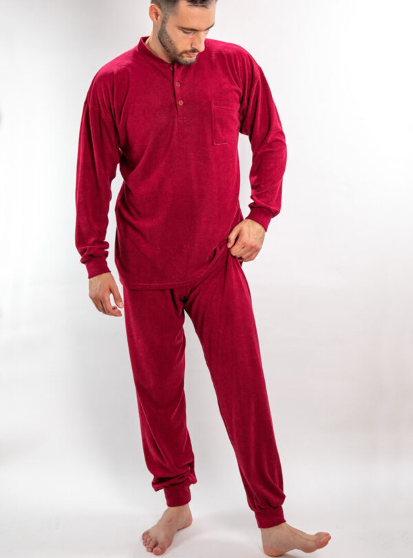 Muška frotir pidžama bordo, Muske frotirske pidzame online prodaja