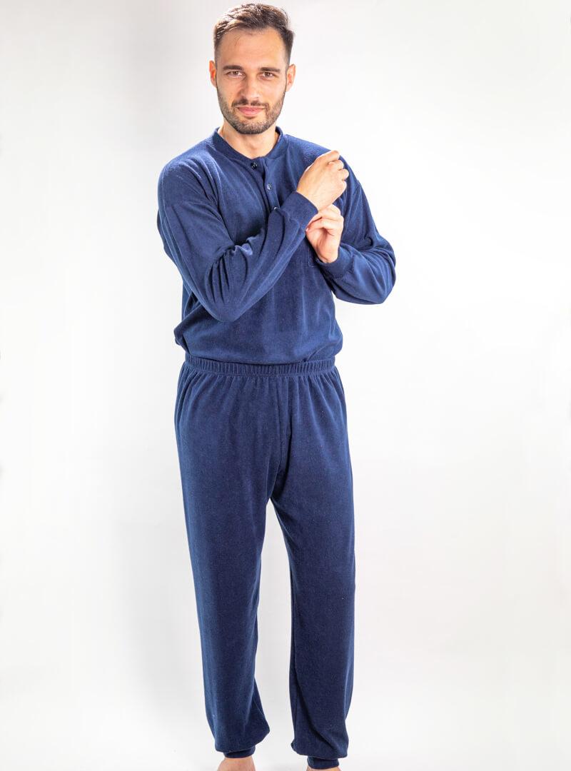 Muška frotir pidžama teget, Muske pidzame online prodaja