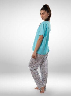 Ženska pidžama kratak rukav dezen2, ženske pidžame