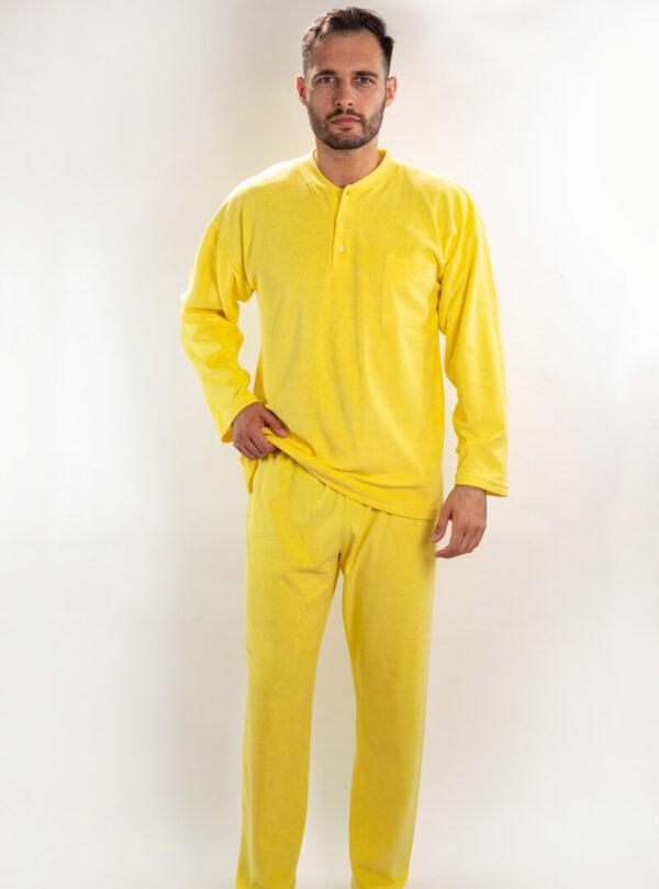 Muška frotir pidžama žuta, Muske pidzame online prodaja