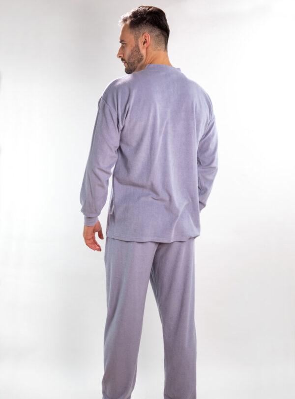 Muška frotir pidžama siva, Muske frotirske pidzame online prodaja