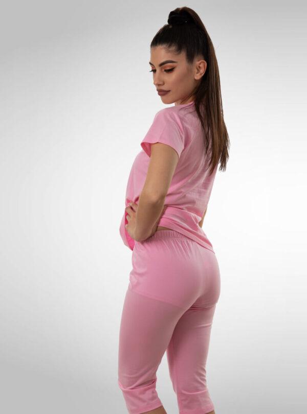 Ženska pidžama 3/4 nogavica roza, ženske pidžame
