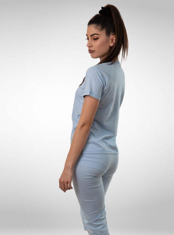 Ženska pidžama 3/4 nogavica plava, ženske pidžame
