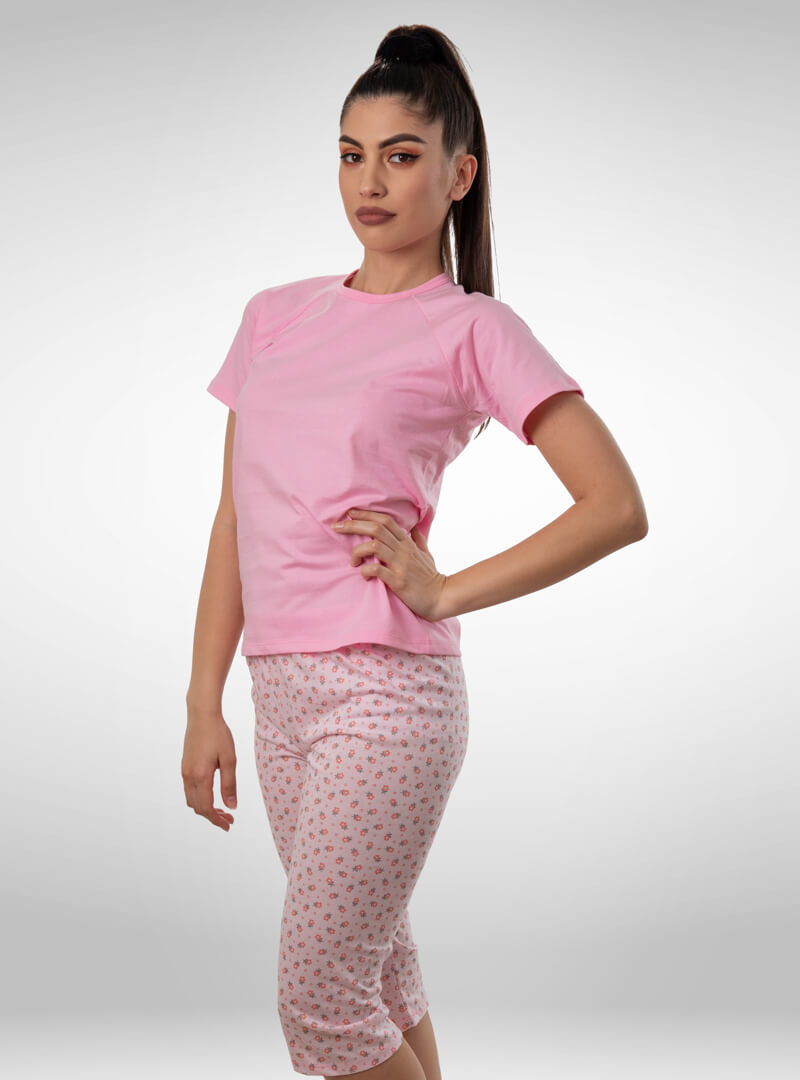 Ženska pidžama 3/4 nogavica dezen1, ženske pidžame