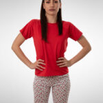 Ženska pidžama 3/4 nogavica dezen2, ženske pidžame