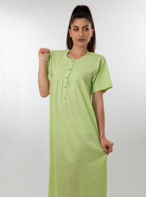 Ženska spavaćica kratkih rukava zelena, ženske spavaćice
