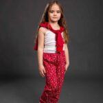 Pamučna pidžama za djevojčice dezen1, Pidžame za djevojčice