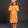 Bade mantil za djevojčice sa kapuljačom narandžasti, dječiji ogrtači