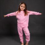 Pamučna pidžama za djevojčice roza, Pidžame za djevojčice