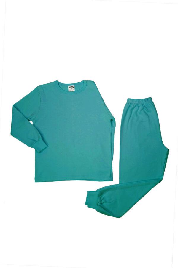 Pamučna pidžama za djevojčice tirkiz, Pidžame za djevojčice