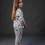 Pamučna pidžama za djevojčice dezen2, Pidžame za djevojčice