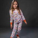 Pamučna pidžama za djevojčice dezen3, Pidžame za djevojčice