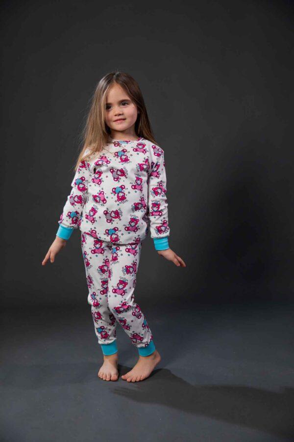 Pamučna pidžama za djevojčice dezen4, dječije pidžame za djevojčice