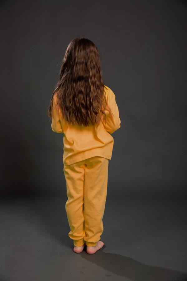 Pamučna pidžama za djevojčice narandžasta, Pidžame za djevojčice